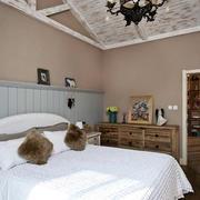 一室一厅北欧简约风格卧室吊顶装修效果图