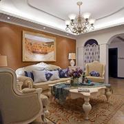 室内客厅简欧家具