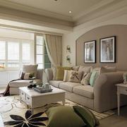 室内客厅布艺沙发