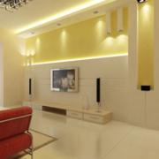 120平米欧式大户型电视墙背景装修效果图