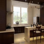 2016大户型欧式开放式厨房装修效果图鉴赏