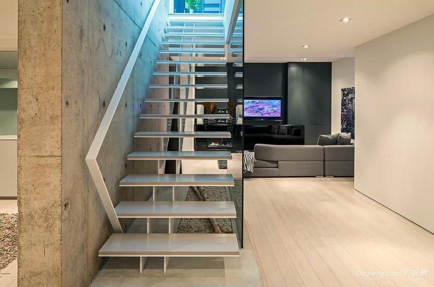 现代主义风格复式楼楼梯设计效果图