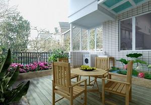 90平米清新风格阳台装修效果图