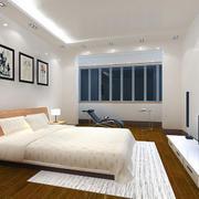2016浅色系一居卧室背景墙装修设计效果图