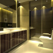 2016大户型欧式唯美的洗手间装修效果图