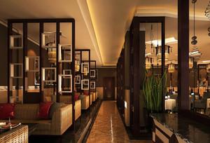 新古典商务酒店餐厅隔断设计装修效果图