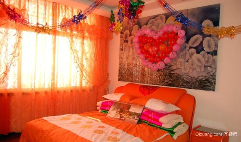 128平米浪漫型婚房布置图片