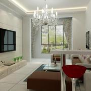 小户型简约风格新房客厅装修效果图