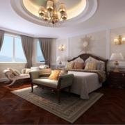 2016简欧风格大户型卧室床头背景墙装修效果图