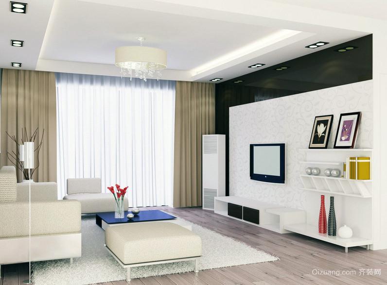 2016现代典雅40平米小户型装修设计效果图