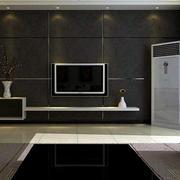 后现代风格深色系电视背景墙装饰