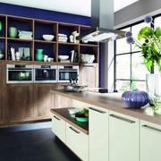 法式乡村300平米别墅厨房收纳柜装修图