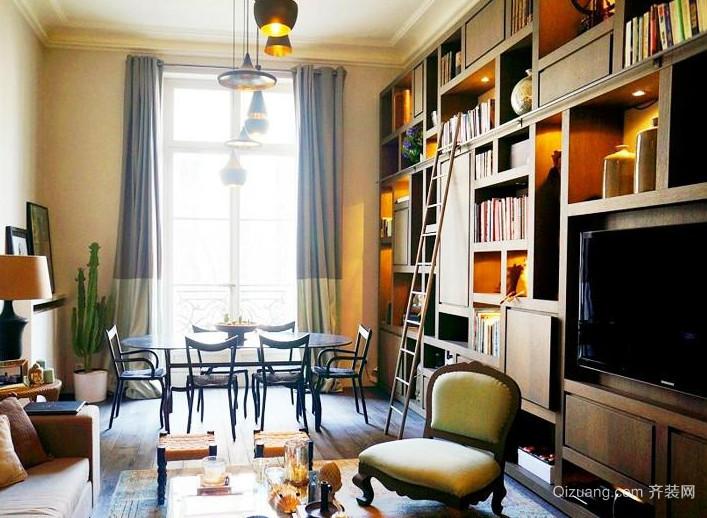 120平米现代精致的大户型书房书柜装修效果图