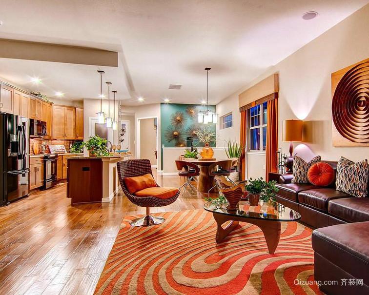 后现代主义风格三室一厅客厅设计效果图