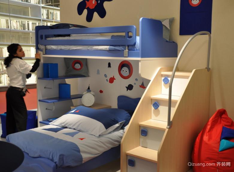 2016动感活泼型大户型欧式儿童卧室装修效果图