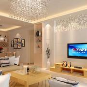 现代简约风格客厅电视背景墙
