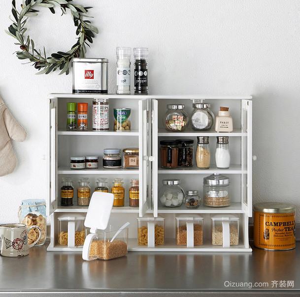 现代简约小户型厨房收纳装修效果图