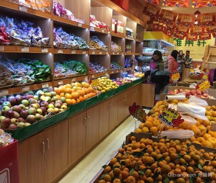 2016现代都市大型水果店装修效果图鉴赏