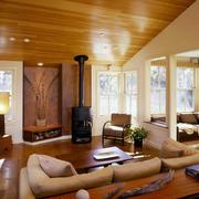 100平米房屋美式简约风格客厅装饰