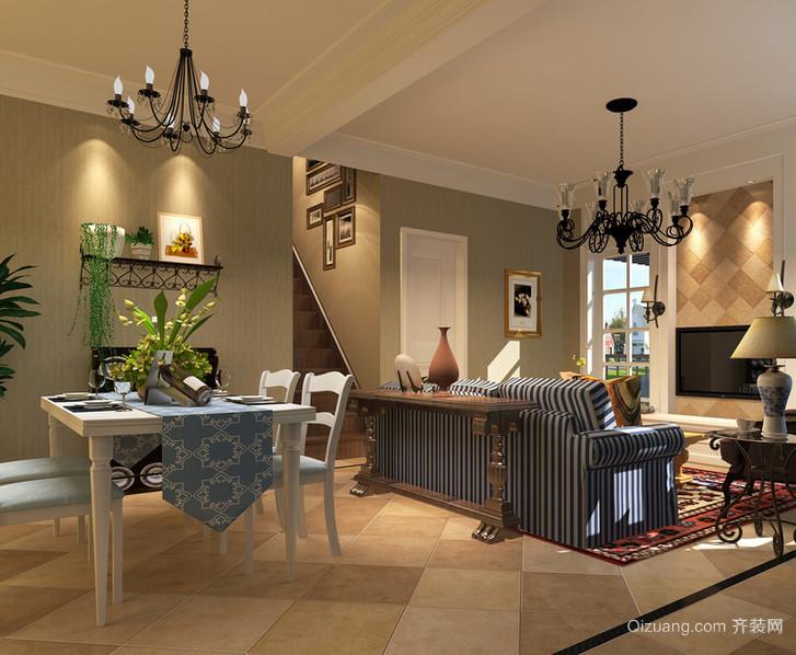 精致大户型美式装修风格样板房效果图实例欣赏