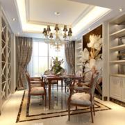 都市家庭欧式别墅型室内餐厅装修效果图欣赏