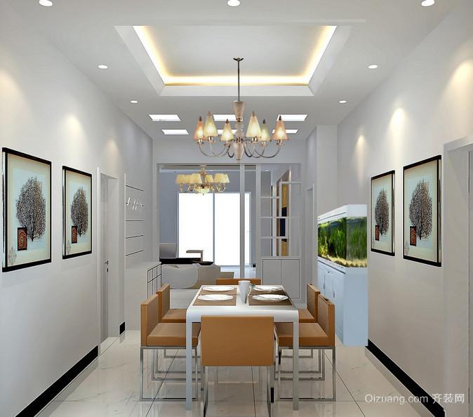 2016大户型欧式唯美的室内餐厅装修效果图