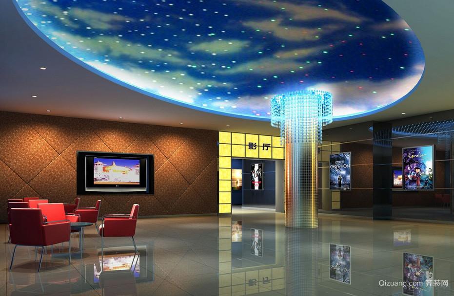 商场影院大堂星空吊顶装修效果图