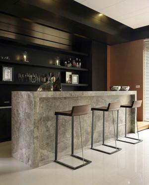 大型别墅后现代风格酒柜吧台装修效果图