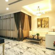 样板间客厅灯饰装饰设计