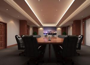 现代简约暖色系会议室装饰