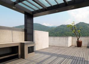 2016日式典雅小户型阳台护栏装修设计效果图