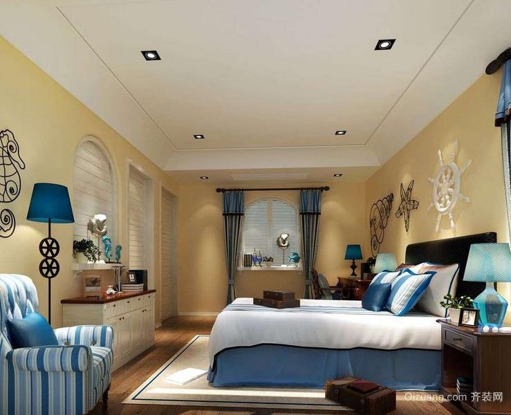 70平米小户型地中海风格卧室装修效果图鉴赏
