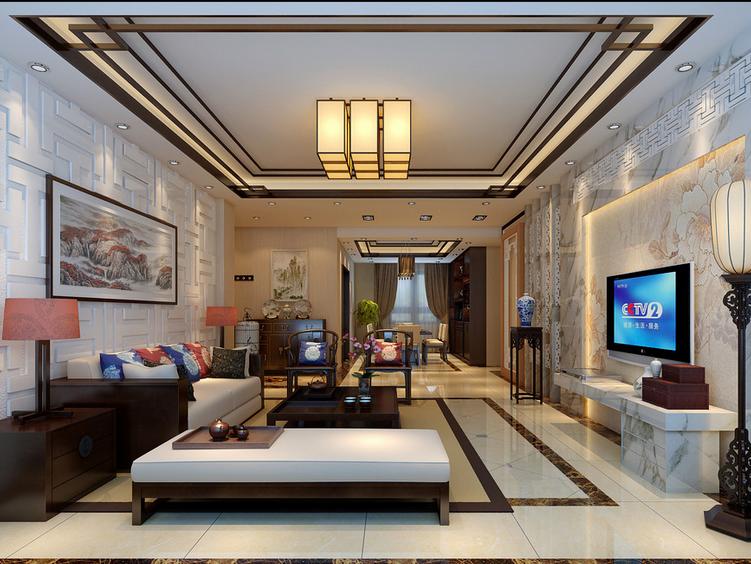 90平米大户型后现代装修风格客厅效果图欣赏