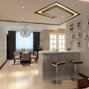 120平米复式楼后现代风格客厅吧台装修效果图
