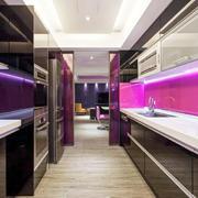 公寓厨房紫色装饰