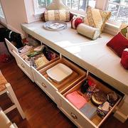 宜家小户型家居飘窗收纳装修设计效果图