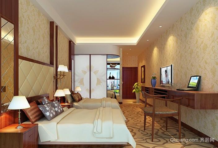 新中式儒雅宾馆客房装修效果图