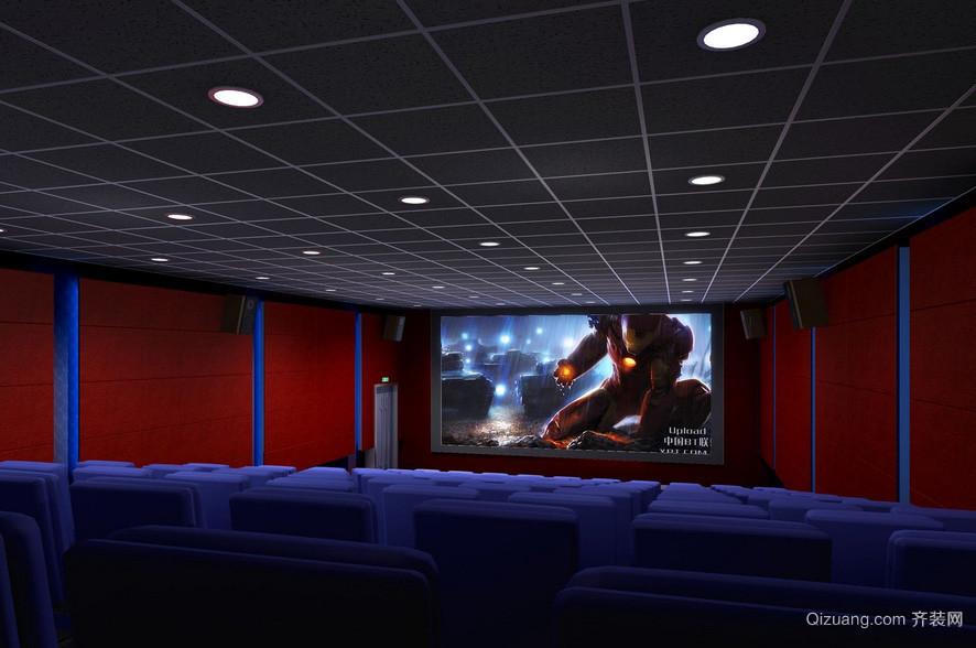 现代简约影院房间吊顶装修效果图