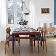 公寓餐厅实木餐桌椅