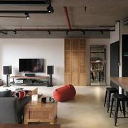 120平米loft工业风个性客厅装修效果图