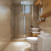 2016唯美的欧式大户型卫生间装修效果图欣赏