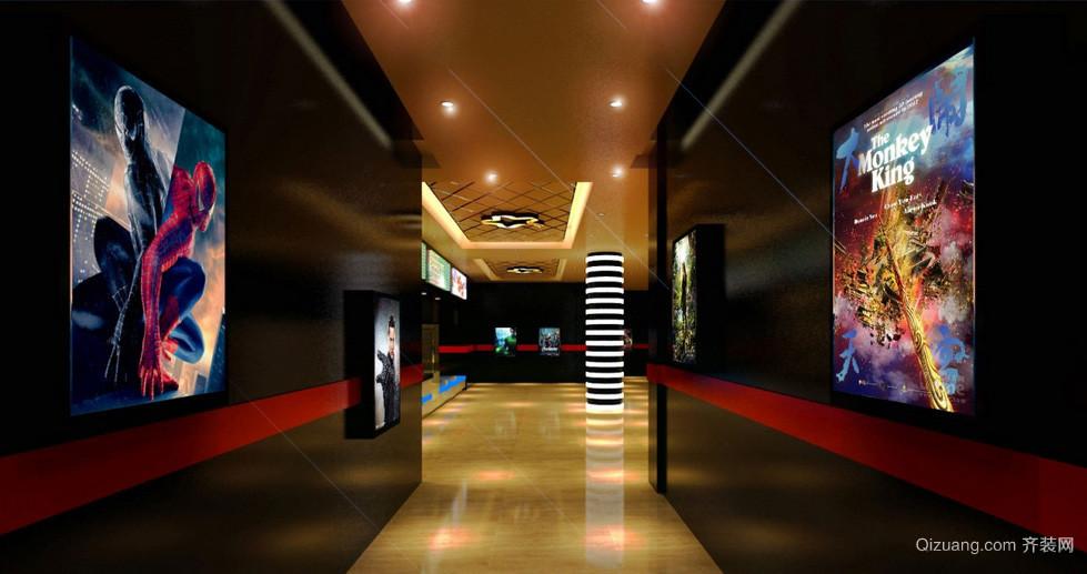 时尚大型影院过道墙面装修效果图
