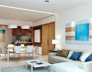 100平米房屋都市风格清新简约客厅装修效果图