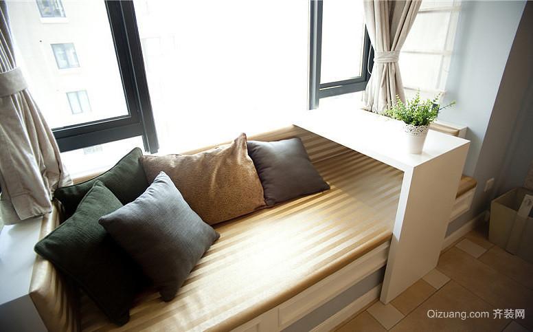 现代简约单身公寓飘窗装修设计效果图