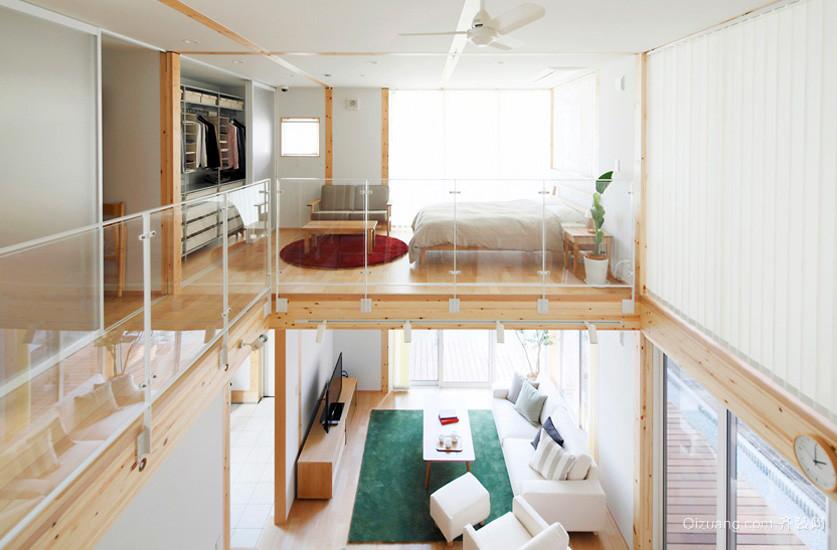 40平米原木风错层小户型住宅装修实例