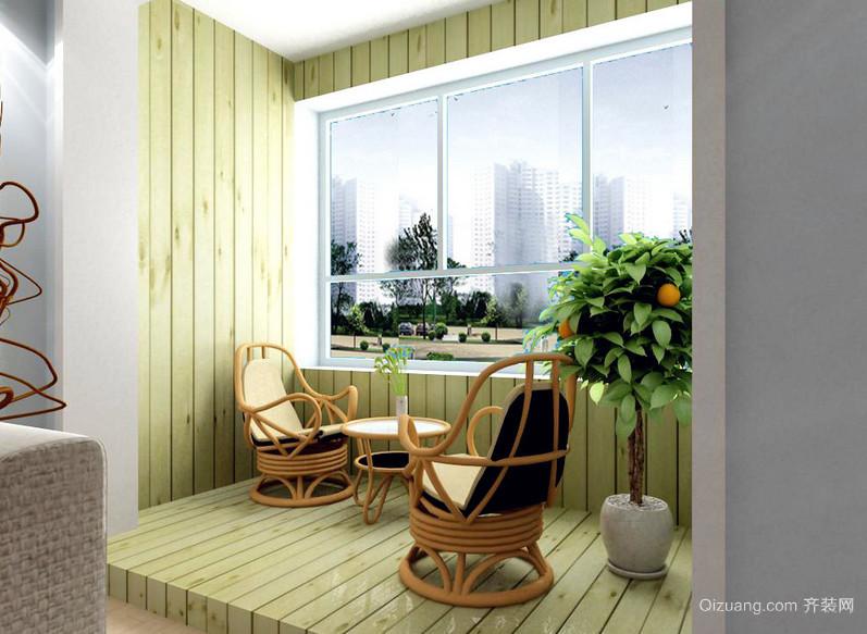 2016日式小户阳台护栏装修设计效果图
