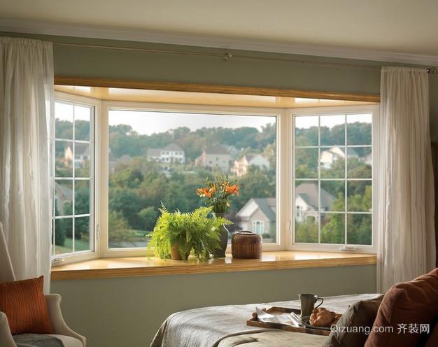 单身公寓韩式清新风格卧室窗帘装修效果图