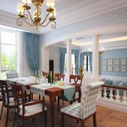 现代餐厅窗帘造型图