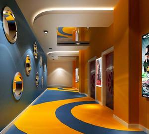 小型现代影院彩色走廊装修效果图
