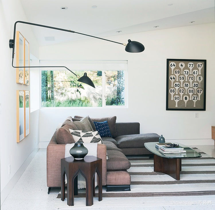 2016新款小户海景别墅客厅装修设计效果图